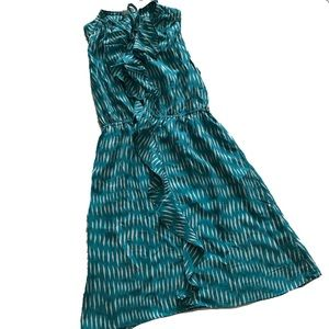 Dresses & Skirts - Lil White and Teal Ruffle Dress